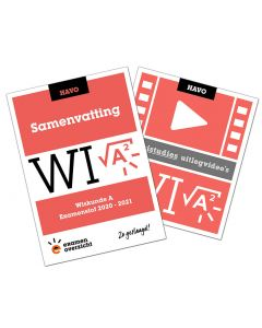 Samenvatting + Uitlegvideo's Wiskunde A (HAVO)