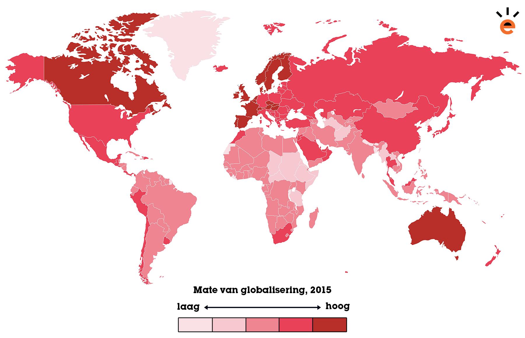 Globalisering wereldkaart