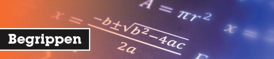 Begrippen wiskunde