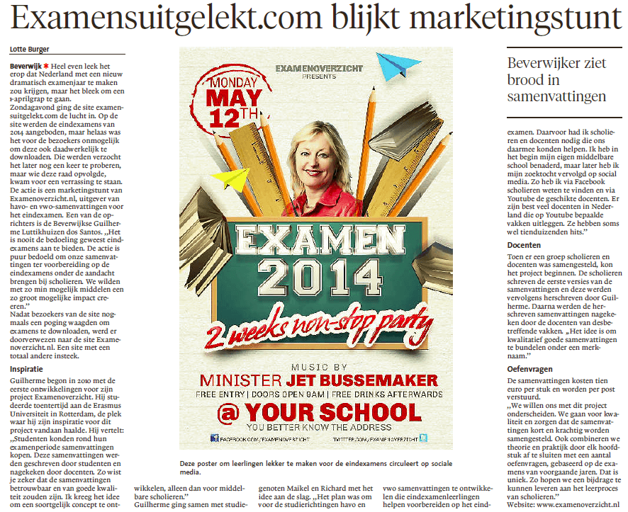 Noord-Hollands Dagblad ExamensUitgelekt
