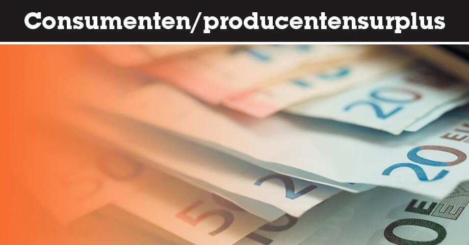 Consumentensurplus en producentensurplus