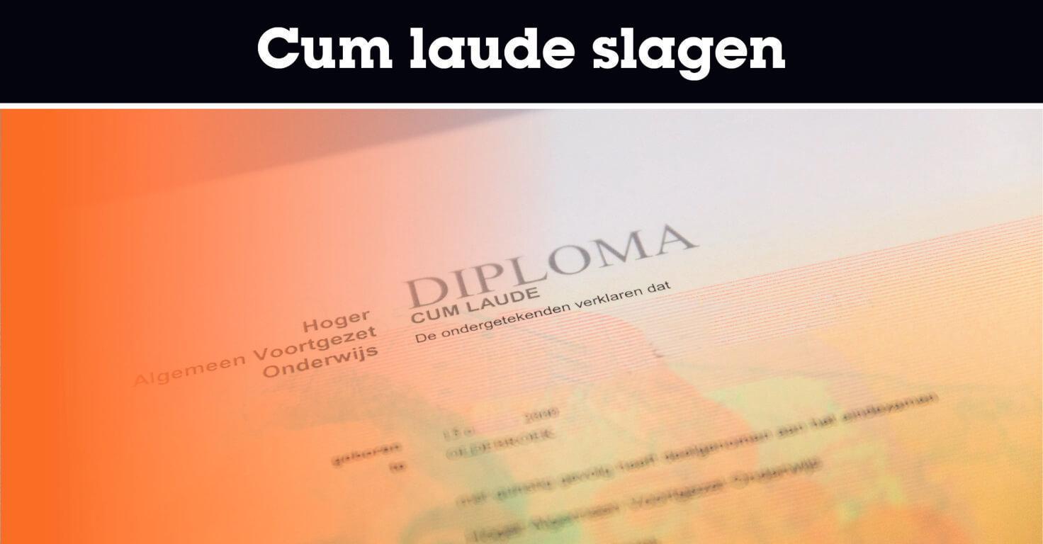 Cum laude slagen voor het eindexamen