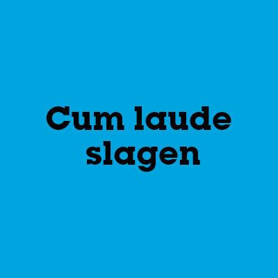 Cum laude slagen