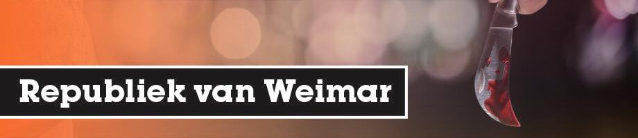 De dolkstootlegende en de Republiek van Weimar