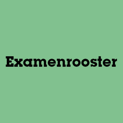 Examenrooster