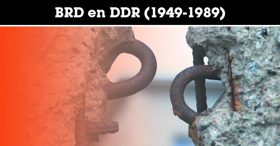 De splitsing en hereniging van de BRD en DDR