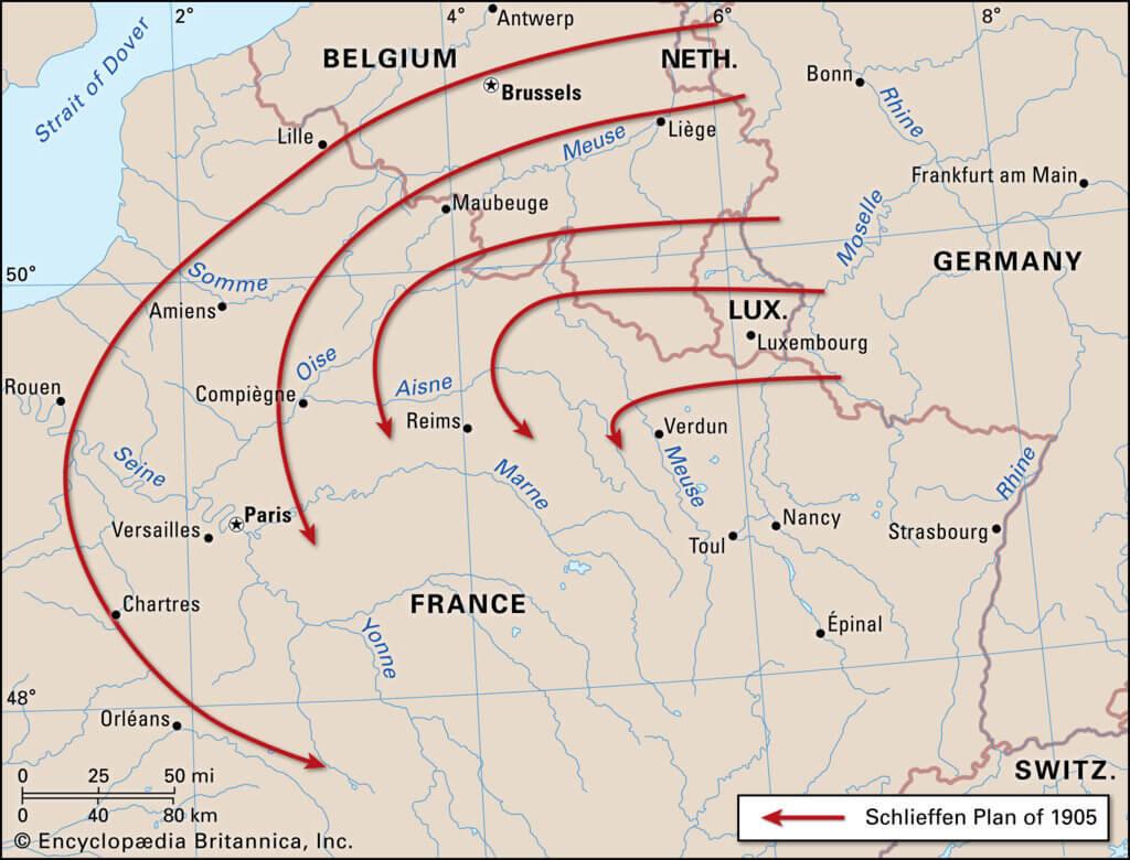 Map van het Von Schlieffenplan