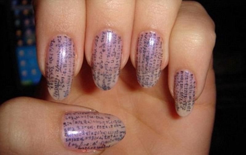 Spiekbrief op je nagels
