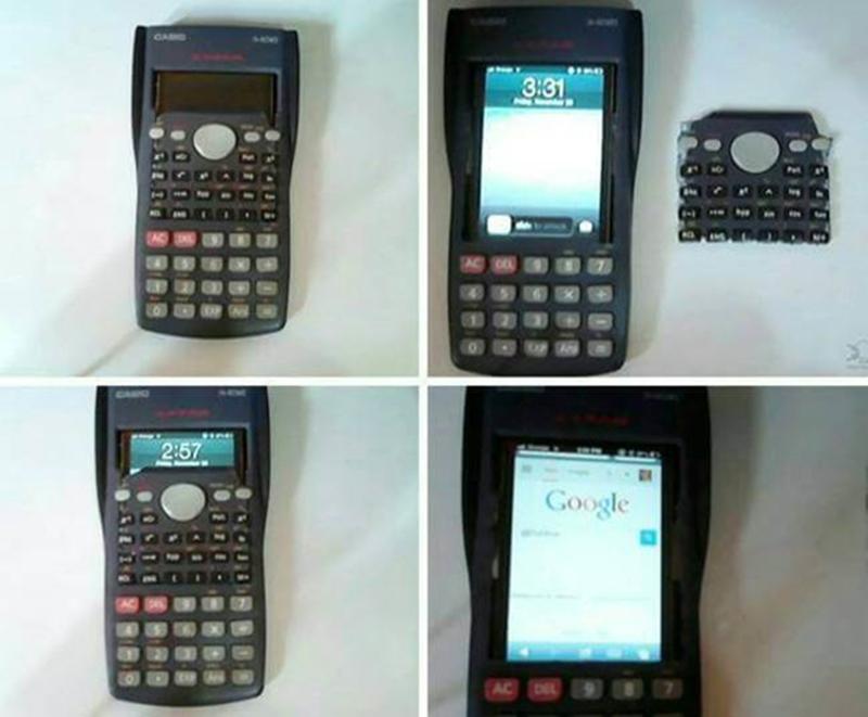 Mobiele telefoon in rekenmachine