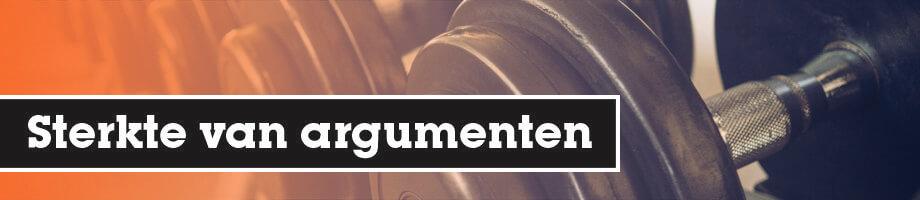 Sterkte van argumenten