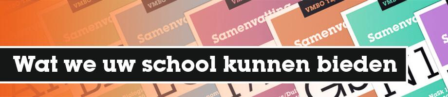 Wat we uw school kunnen bieden