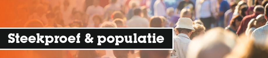 Wat is een steekproef en wat is een populatie?