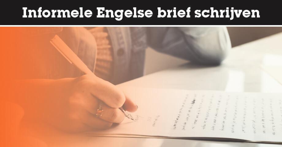 Informele Engelse brief schrijven